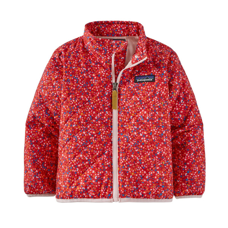 Patagonia Baby Nano Puff Jacket in Barn Dance Multi Catalon Coral