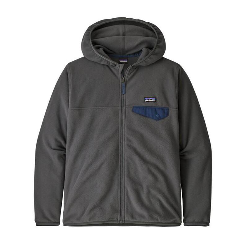 Patagonia Boy's Micro D Snap-T Jacket in Forge Grey Color