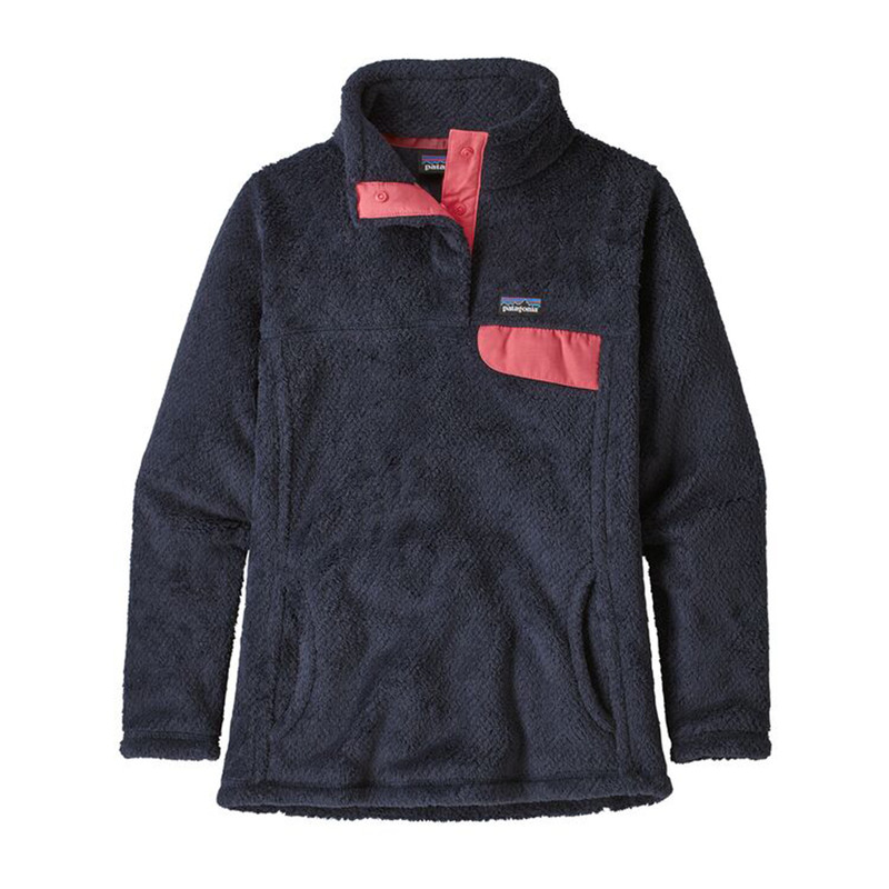 Patagonia Girl's Re-Tool Snap-T Pullover in Neo Navy Color
