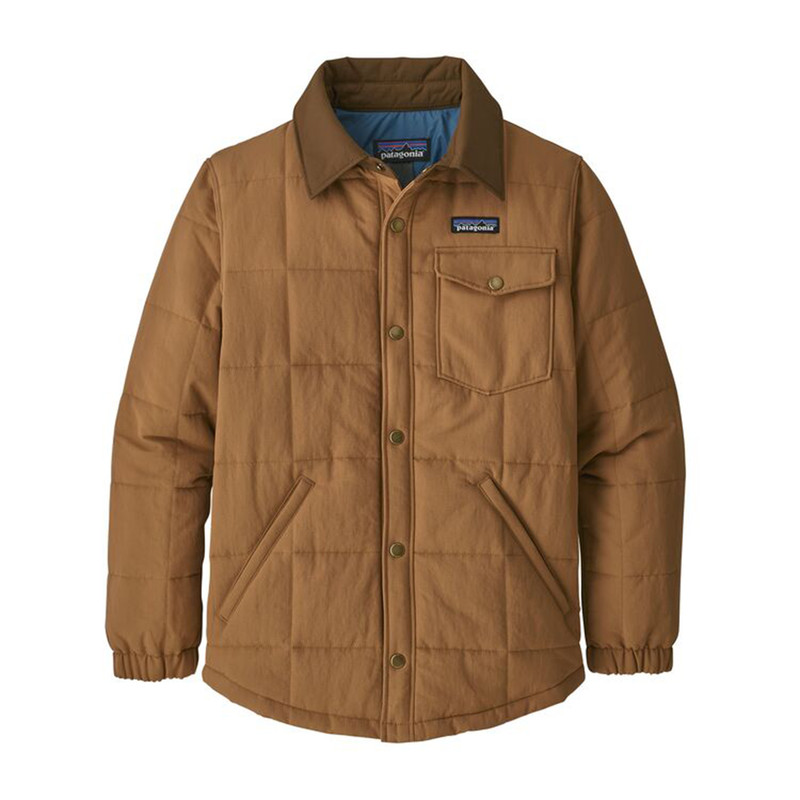Patagonia Boy's Quilted Shacket in Beech Brown Color