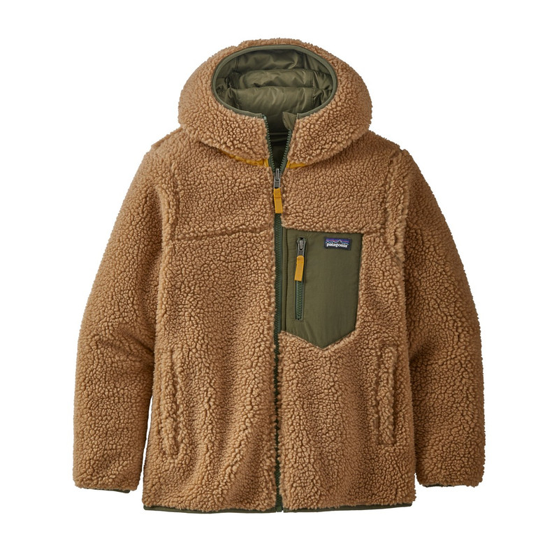 Patagonia Boys Reversible Ready Freddy Hoody in Basin Green Color