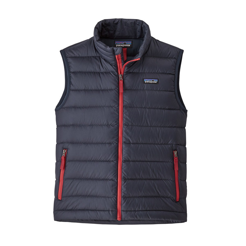 Patagonia Boy's Down Sweater Vest in Black Color