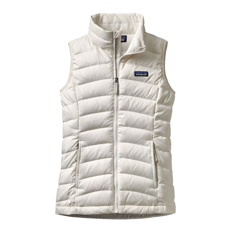 Patagonia Girl's Down Sweater Vest in Birch White Color
