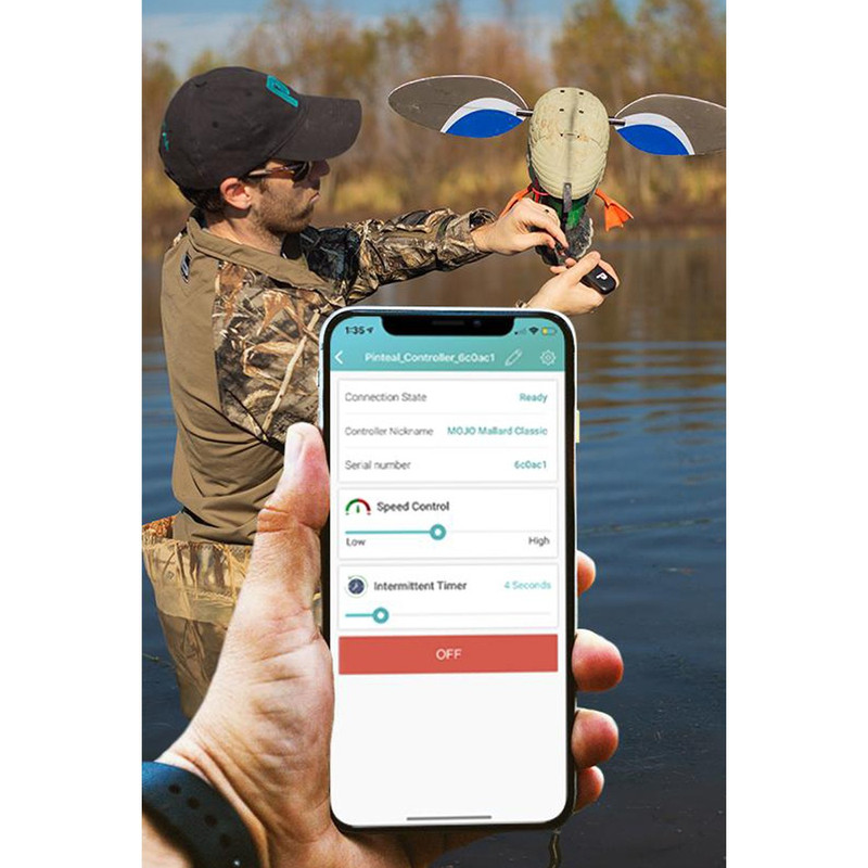 Pinteal Waterproof Long Range Bluetooth Spinning Wing Decoy Controller
