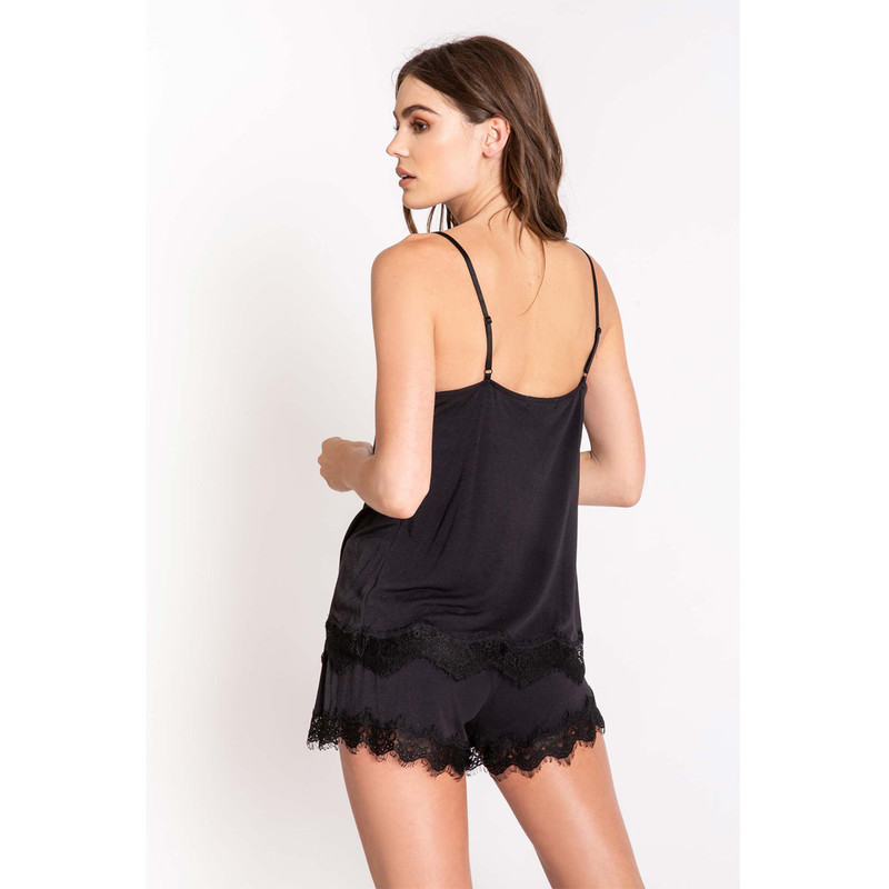 PJ Salvage Cami Modal Basic in Black Color