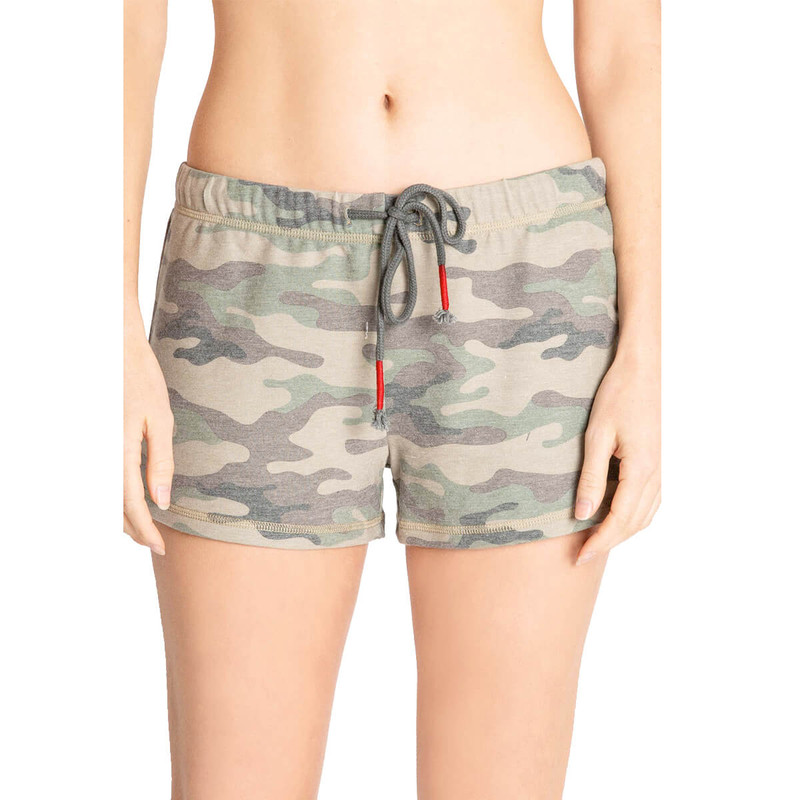 PJ Salvage Kind is Cool Camo Shorts in Green Color
