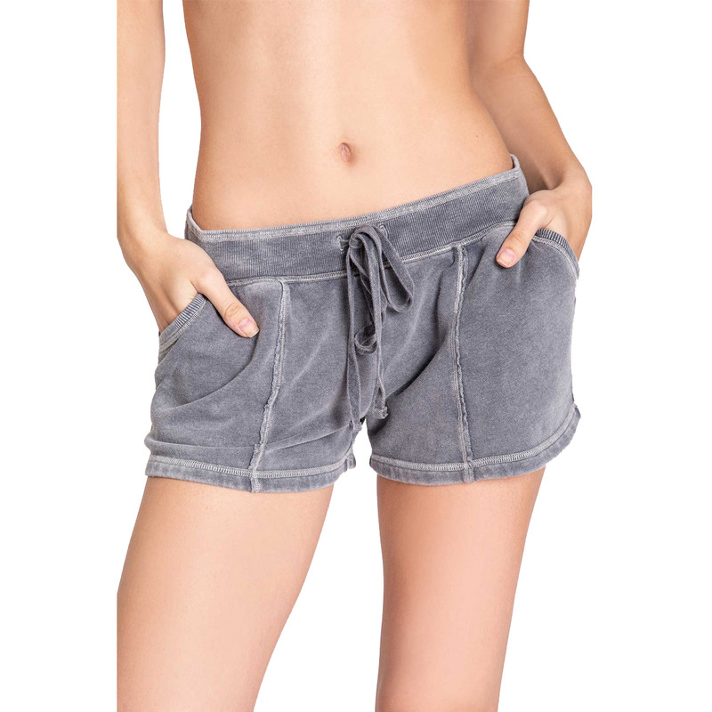 PJ Salvage Music to My Heart Shorts in Grey Color