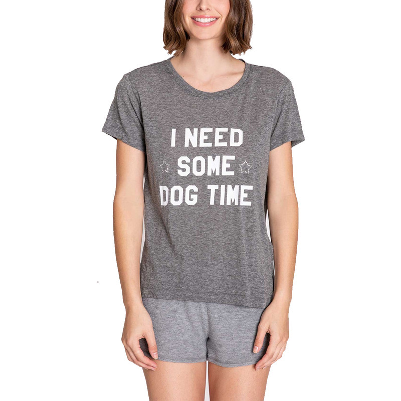 PJ Salvage Pawfection Top in Heather Grey Color