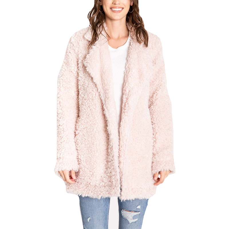 PJ Salvage Sherpa Jacket in Champagne Color