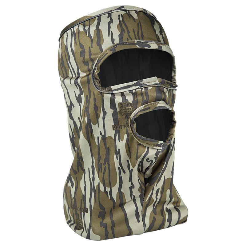 Primos 3/4 Stretch Fit Face Mask in Mossy Oak Bottomland Color
