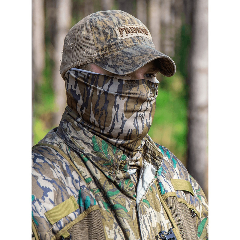 Primos Neck Gaitor Face Mask in Mossy Oak Bottomland Color