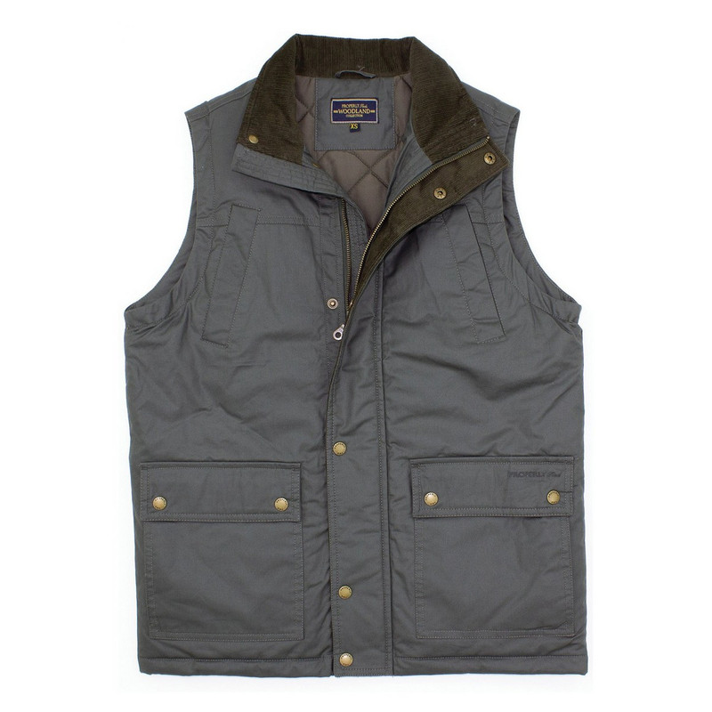 Properly TIed Woodland Vest in Charcoal Color