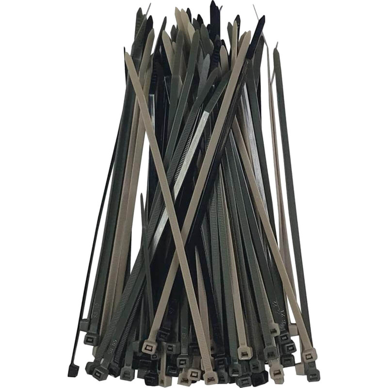 Pro Ties Cable Ties 100 Pack of 8 Inch Zip Ties in Camo Color