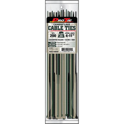 Pro Ties Cable Ties 200 Pack of Assorted Sized Zip Ties