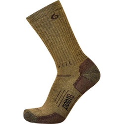 Point 6 Medium Mid-Calf Boot Sock Coyote Brown
