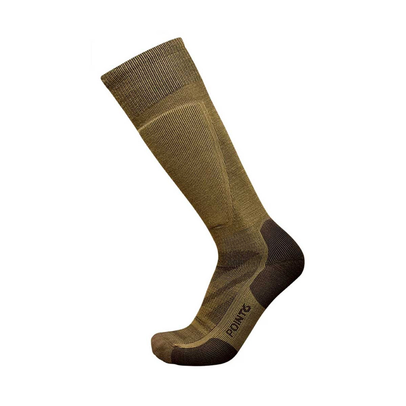 Point 6 37.5 Tactical 10th Mountain Division Light Over-the-Calf Sock in Coyote Brown Color