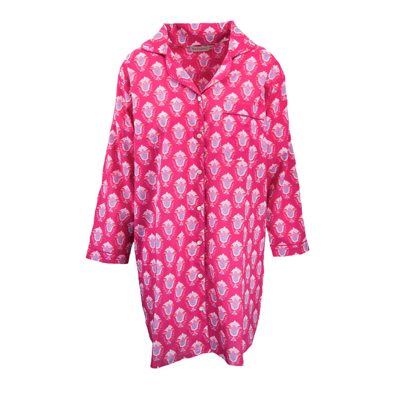 Mahogany Sleepwear Nightshirt Jacinda in Fuchsia Color