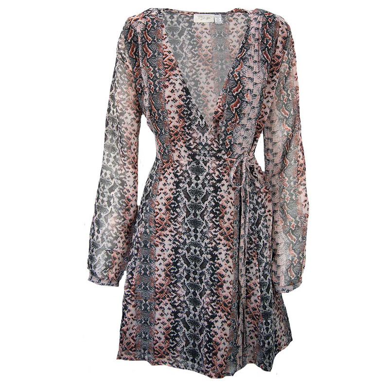 RD Style Snake Print Dress in Rust Color