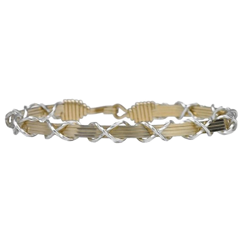 Ronaldo I Love You Forever Two Tone Bracelet