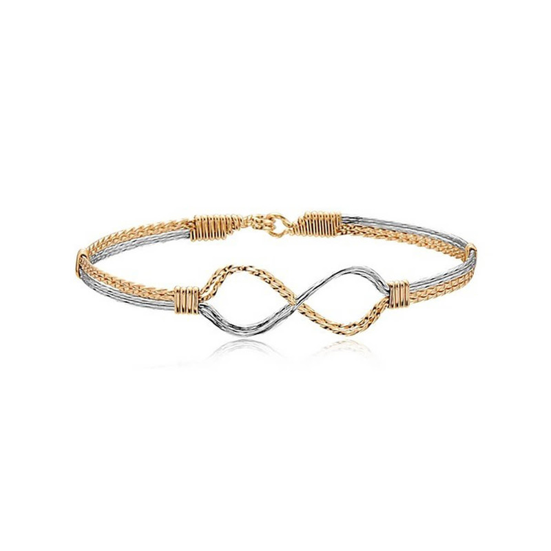Ronaldo Infinity Gold and Silver Bracelet