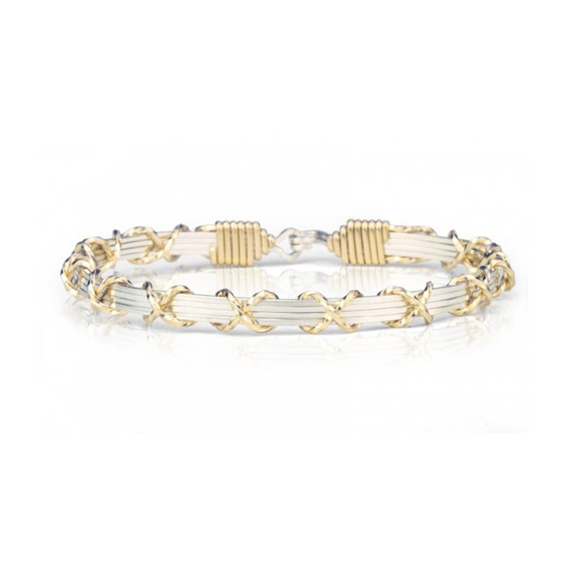 Ronaldo I Love You Silver and Gold Bracelet