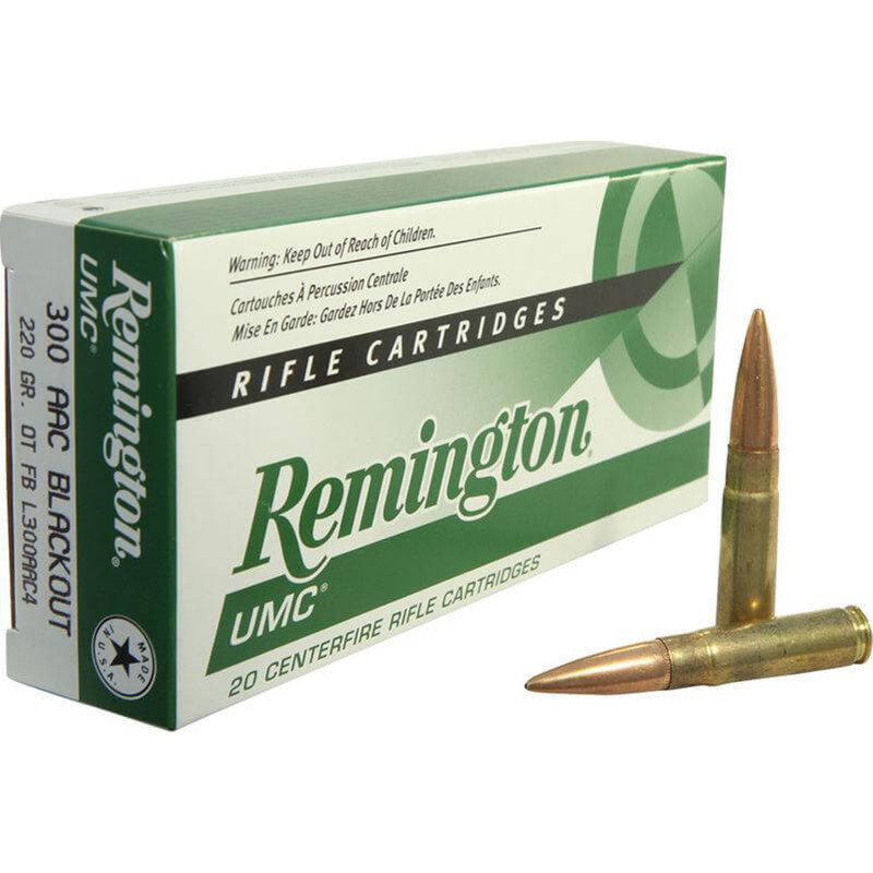 Remington L300AAC4 300 AAC Blackout 220 Grain OT FB