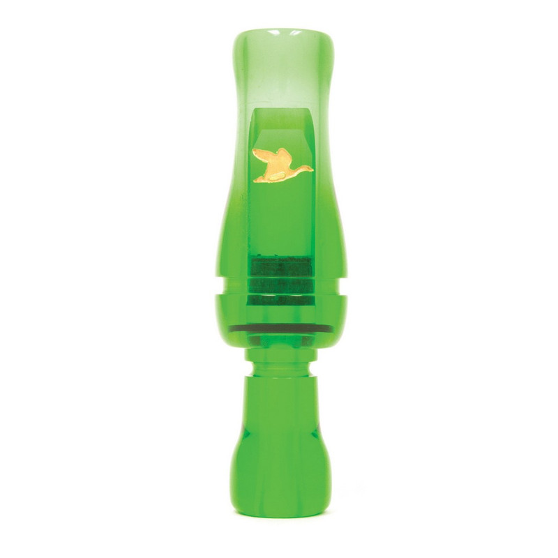RNT Old Style Single Reed Duck Call in Kelly Green Color