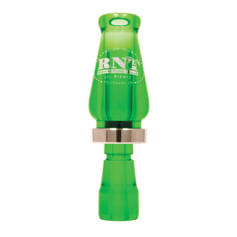 RNT Lil Richie Single Reed Duck Call in Kelly Green Color
