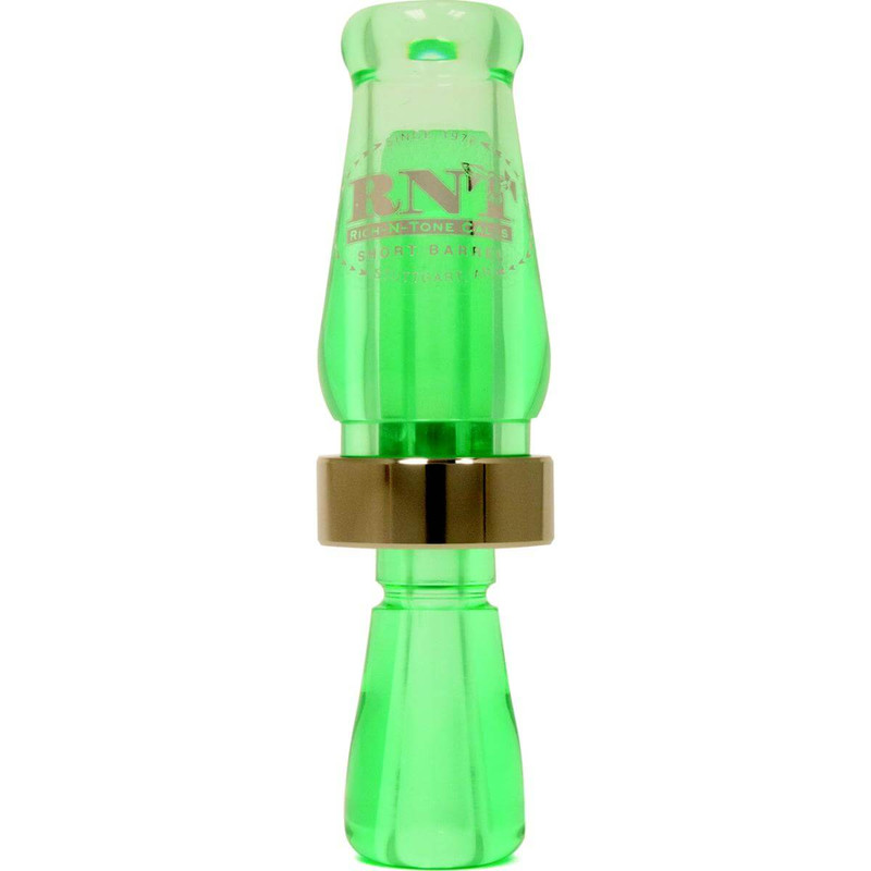 RNT Short Barrel Single Reed Duck Call in Teal Color