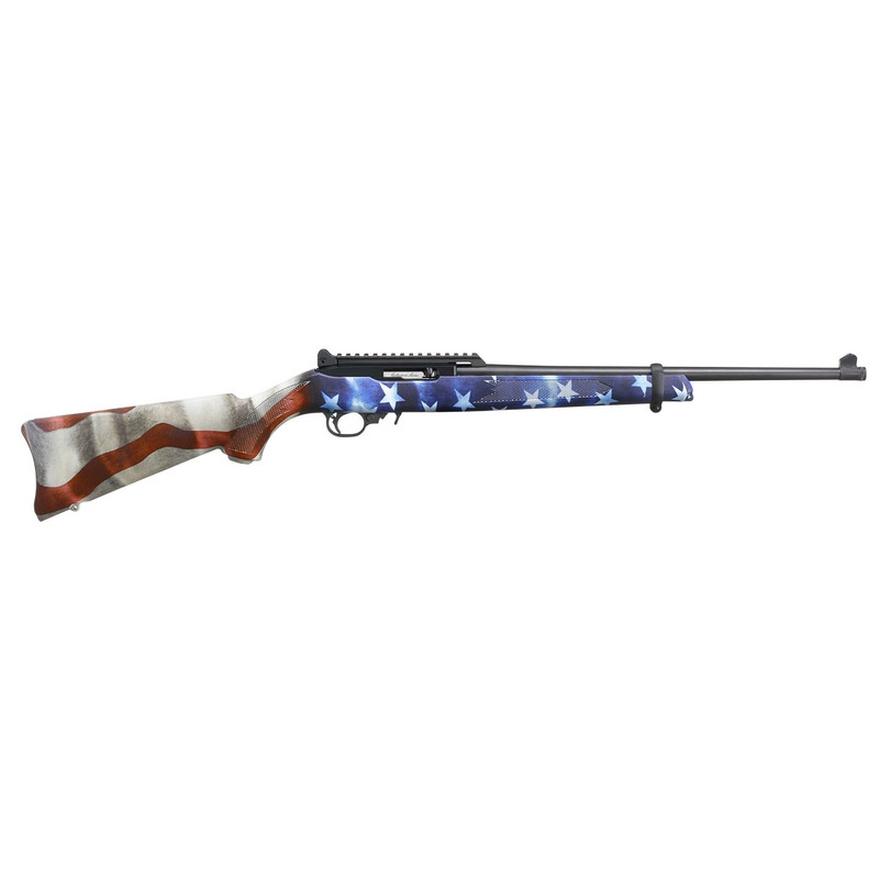 "Ruger 10/22 Carbine 4th Edition 22 LR 10 Rd 18.5"" American Flag"