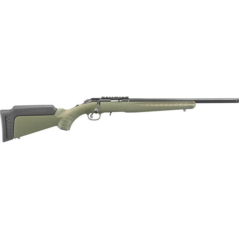 "Ruger 8336 American 17 HMR 18"" OD Green Blued"