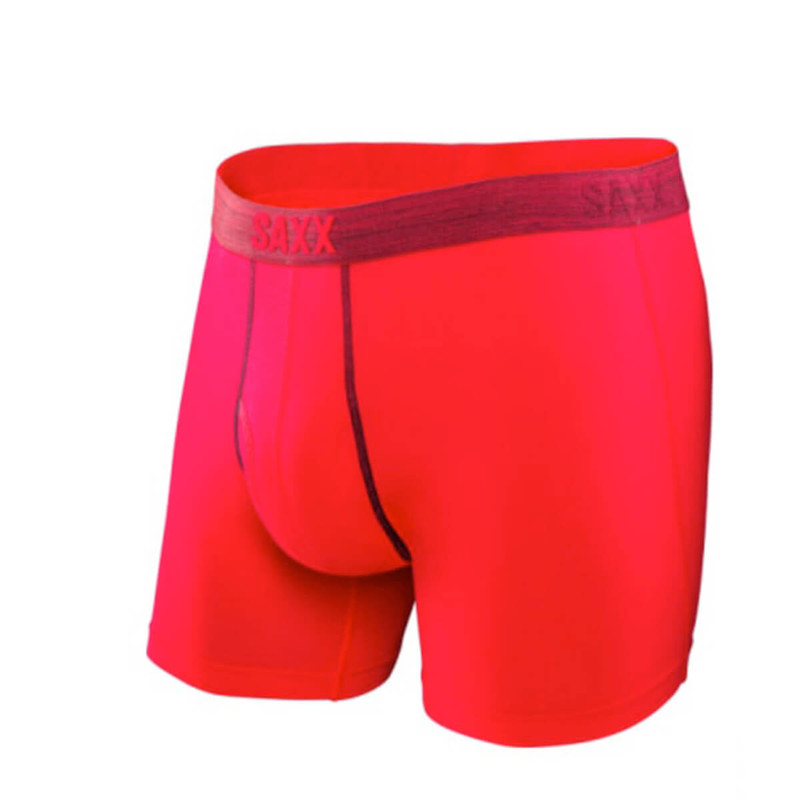 Saxx Platinum Boxer Fly in Red Color