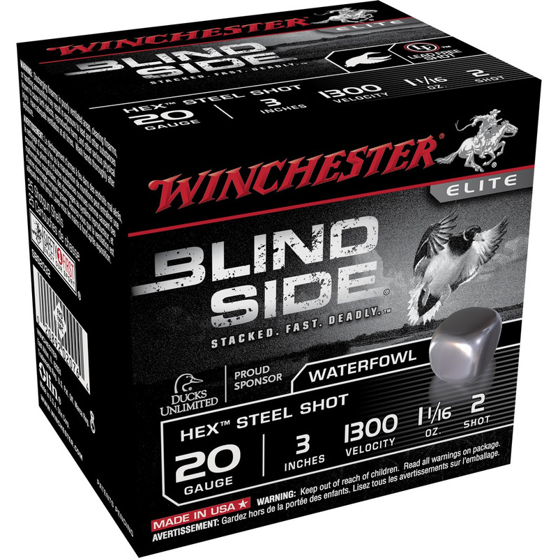 "Winchester SBS203 Blind Side 20 Ga 3"" 1-1/16 Oz - Case in Shot Size 2 Ammo Size"