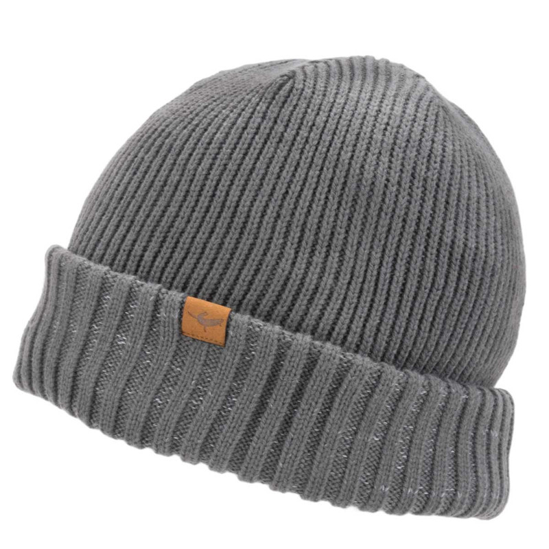 Sealskinz Waterproof Cold Weather Roll Cuff Beanie in Grey Color