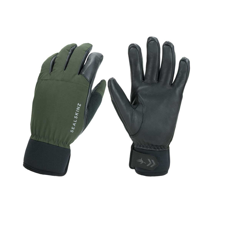 Sealskinz Waterproof All Weather Hunting Glove in Olive Green Black