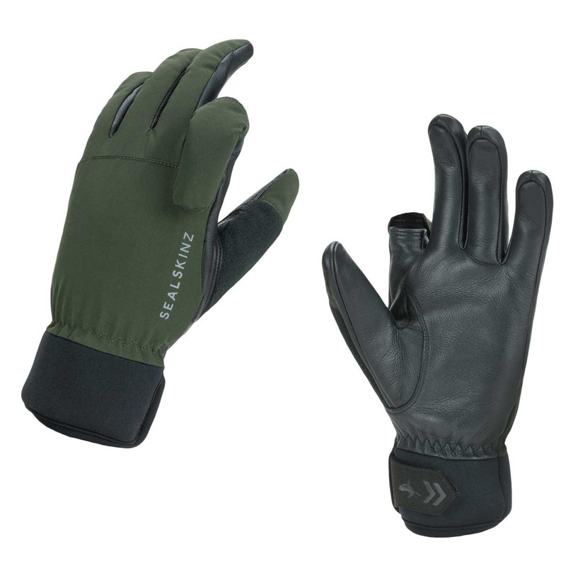 Sealskinz Waterproof All Weather Shooting Glove in Olive Green Black