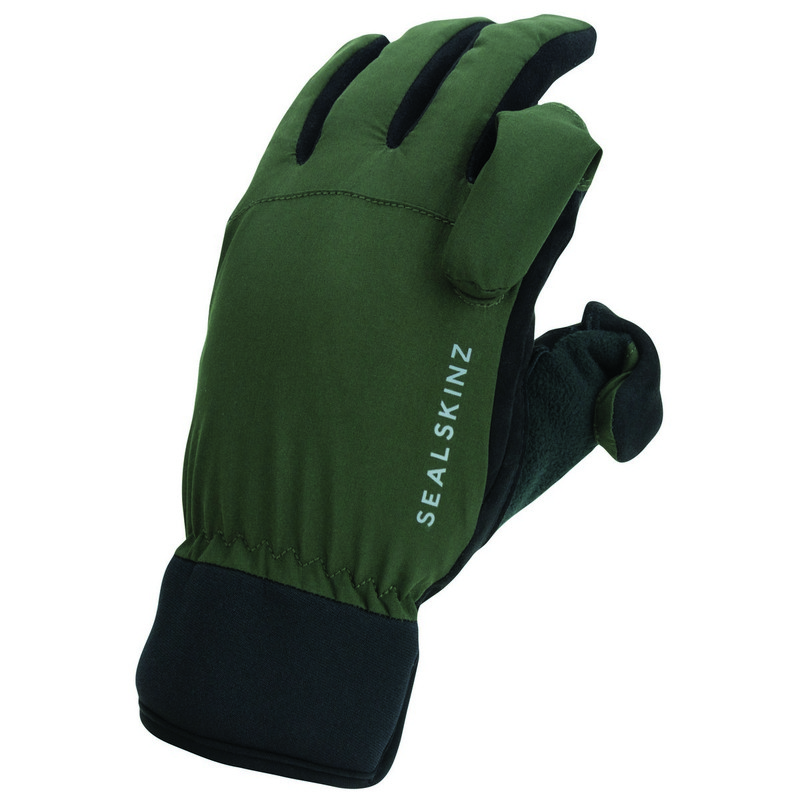 Sealskinz Waterproof All Weather Sporting Glove in Olive Green Black