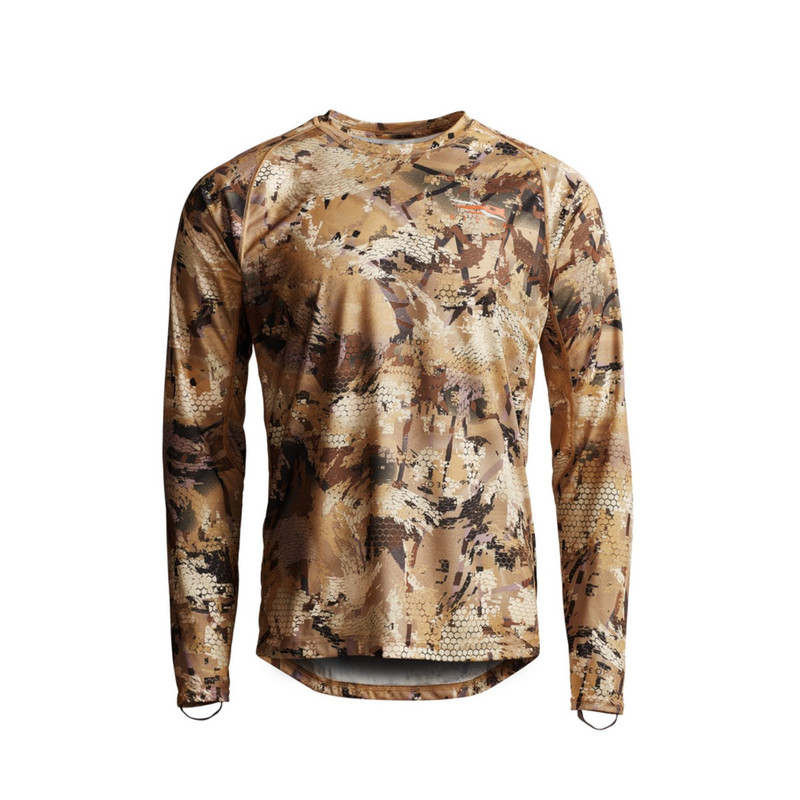 Sitka Core Lightweight Crew Long Sleeve Hunting Shirt in Waterfowl Marsh Color