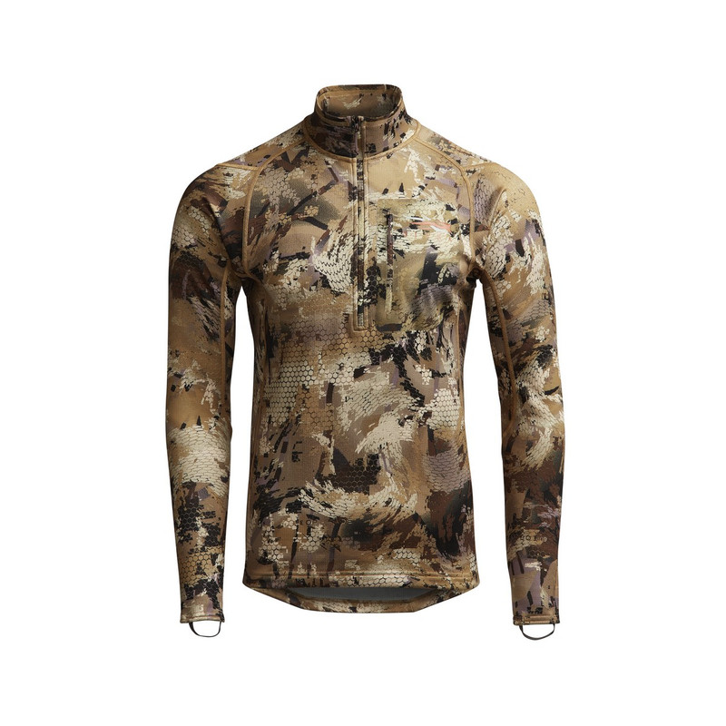 Sitka Core Midweight Zip-T Hunting Shirt in Waterfowl Marsh Color