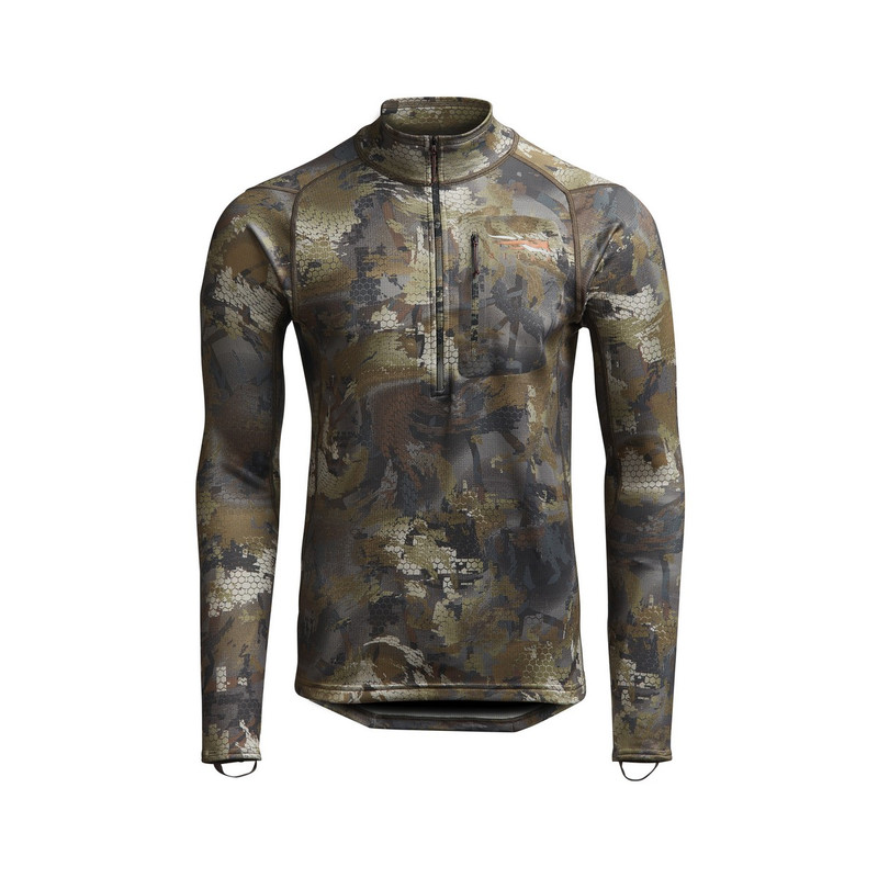 Sitka Core Midweight Zip-T Hunting Shirt in Waterfowl Timber Color