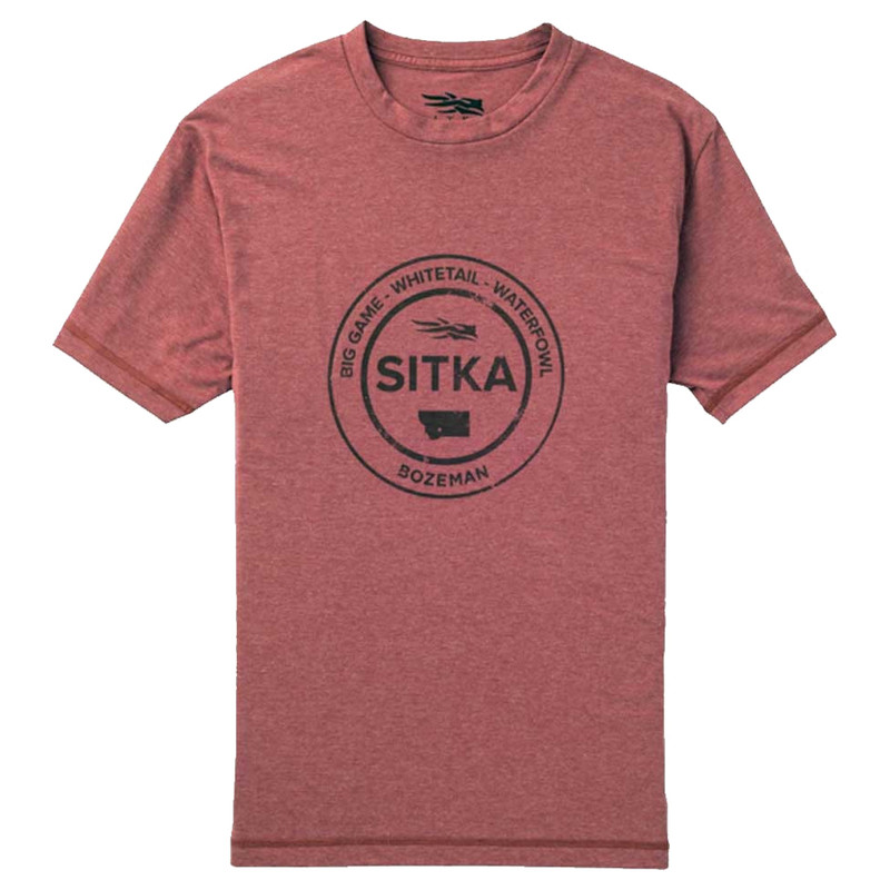 Sitka Seal Short Sleeve T-Shirt in Umber Heather Color