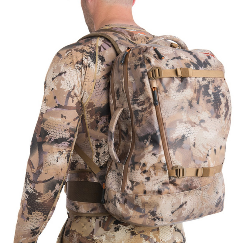 Sitka Full Choke Backpack in Waterfowl Marsh Color