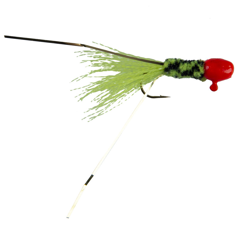 Slater's Glow Tail Jigs in Orange Black Chartreuse Color