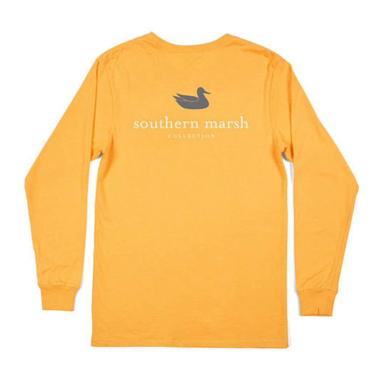 Southern Marsh Authentic Long Sleeve T-Shirt in Squash Color