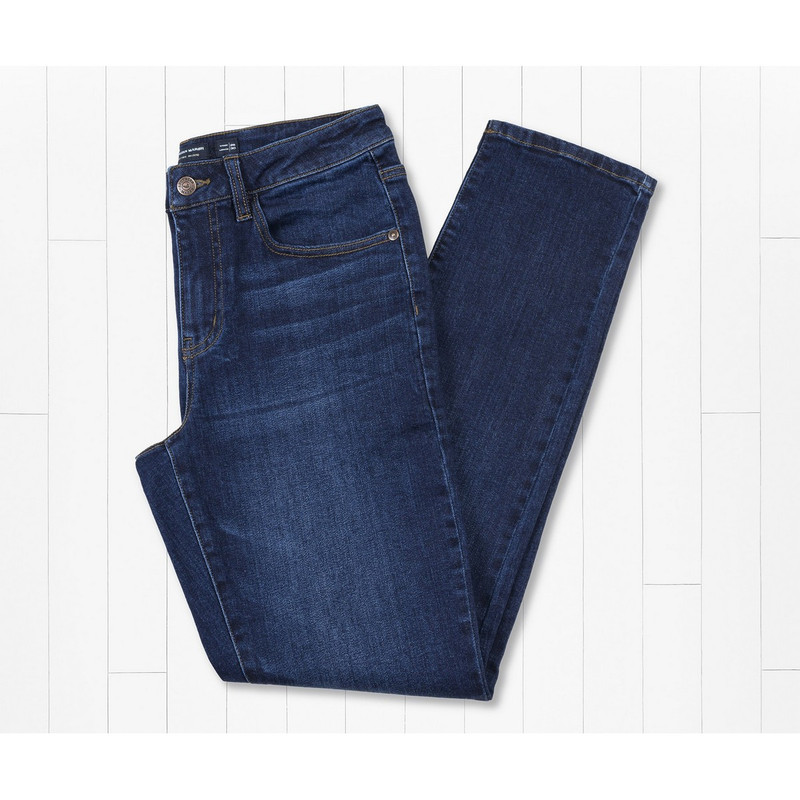 Southern Marsh Greenville Stretch Denim Jeans in Navy Color