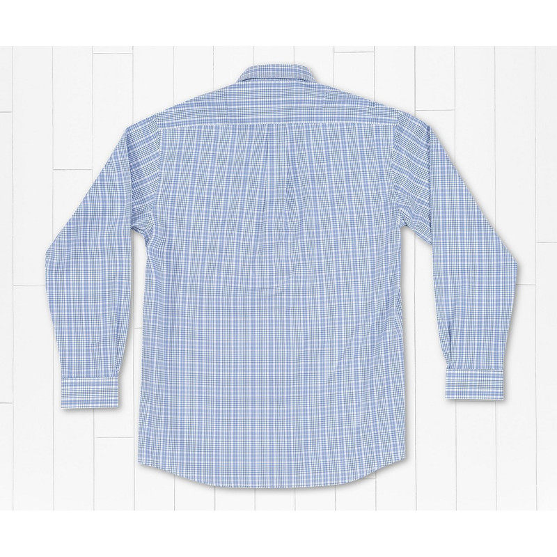 Southern Marsh Shenandoah Performance Check Shirt in French Blue Color
