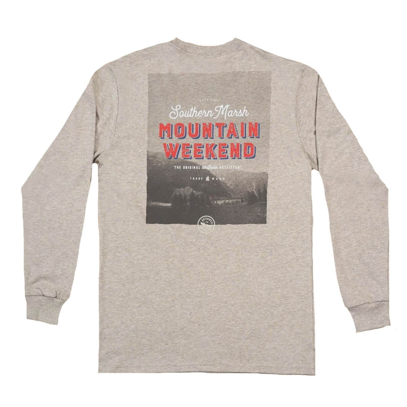 Southern Marsh Endless Weekend LS Tee in Washed Burnt Taupe Color