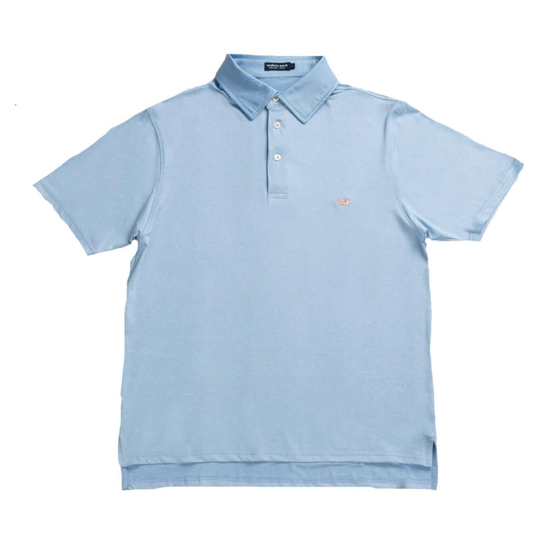 Southern Marsh Rutledge Heather Performance Polo in Breaker Blue Color