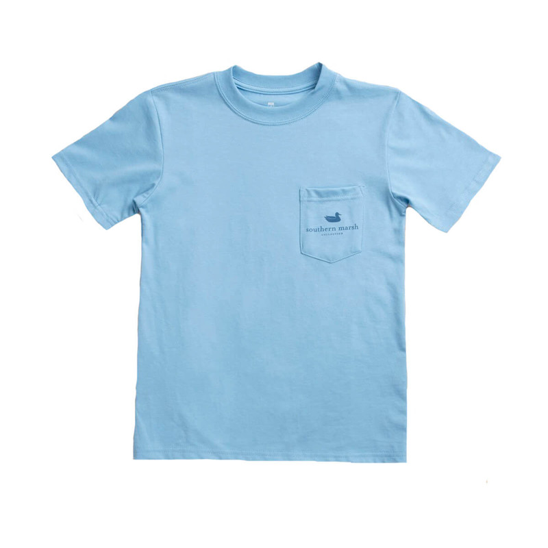 Southern Marsh Youth Southern Horizons - Blue Ridge SS Tee in Breaker Blue Color
