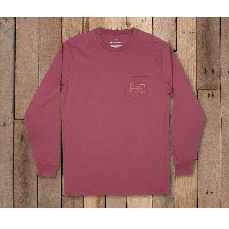Southern Marsh Youth Authentic Long Sleeve Tee in Wine Color